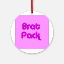 Brat Pack Ornament (Round)