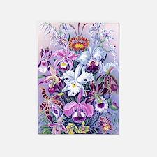 Cattleya, Lady Slipper Orchids 34 X 5'x7'Area Rug