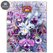 Cattleya, Lady Slipper Orchids 34 X 48 Post Puzzle