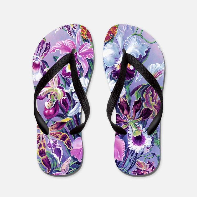 Cattleya, Lady Slipper Orchids 34 X 48  Flip Flops