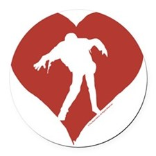 Love – Zombies Round Car Magnet