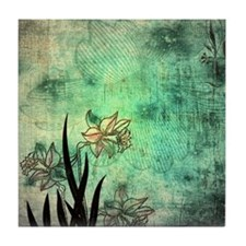 Oriental Lilies Tile Coaster
