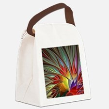 Fractal Bird of Paradise for All  Canvas Lunch Bag