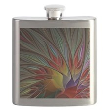 Fractal Bird of Paradise for All Over Shirt Flask