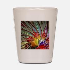 Fractal Bird of Paradise for All Over S Shot Glass