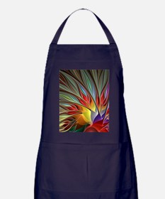 Fractal Bird of Paradise for All Over Apron (dark)