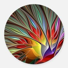 Fractal Bird of Paradise for All  Round Car Magnet