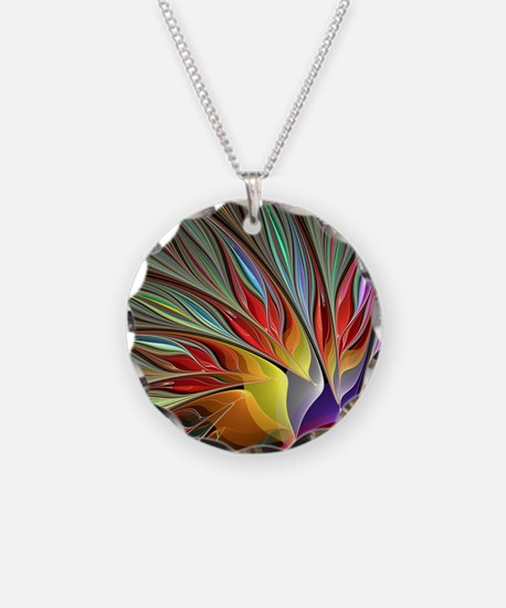 Fractal Bird of Paradise for Necklace