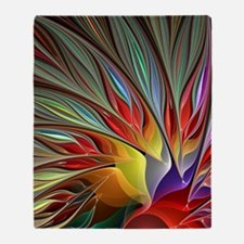 Fractal Bird of Paradise for All Ove Throw Blanket