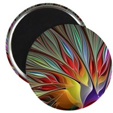 Fractal Bird of Paradise for All Over Shirt Magnet