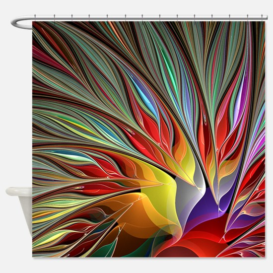 black and red shower curtain set. Fractal Bird of Paradise for All Ov Shower Curtain Unique Curtains  CafePress