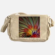 Fractal Bird of Paradise for All Ove Messenger Bag