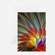 Fractal Bird of Paradise for All Ove Greeting Card