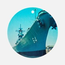 USS Wisconsin Round Ornament