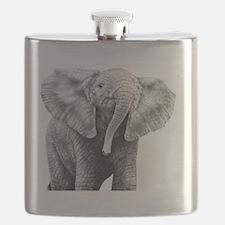 Baby African Elephant 5x7 Rug Flask