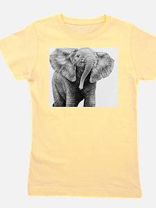 Baby African Elephant 5x7 Rug Girl's Tee