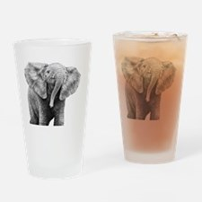 Baby African Elephant 5x7 Rug Drinking Glass