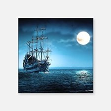 "Pirate Ship Square Sticker 3"" x 3"""