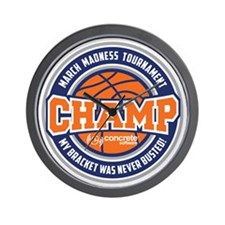 MarchMadnessChamp Wall Clock