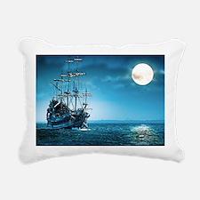 Pirate Ship Rectangular Canvas Pillow