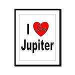 I Love Jupiter Framed Panel Print