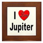 I Love Jupiter Framed Tile