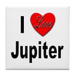 I Love Jupiter Tile Coaster