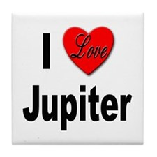I Love Jupiter Tile Coaster