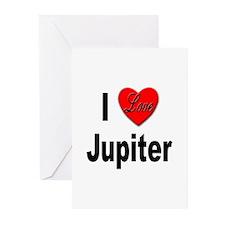 I Love Jupiter Greeting Cards (Pk of 10)