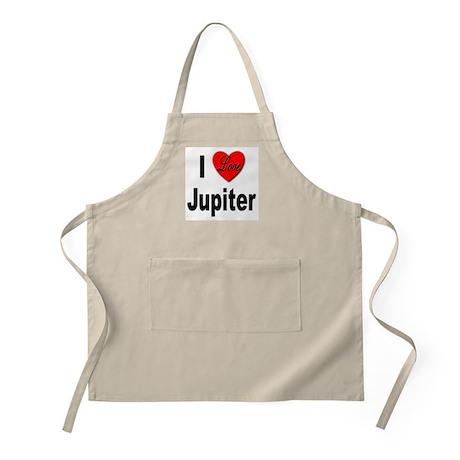 I Love Jupiter BBQ Apron