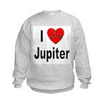 I Love Jupiter (Front) Kids Sweatshirt