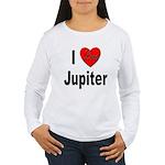 I Love Jupiter (Front) Women's Long Sleeve T-Shirt
