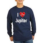 I Love Jupiter (Front) Long Sleeve Dark T-Shirt