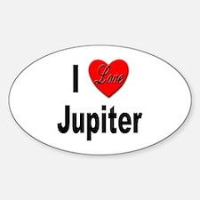 I Love Jupiter Oval Decal