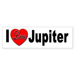 I Love Jupiter Bumper Bumper Sticker