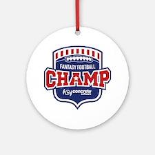 Concrete Football Champion Round Ornament