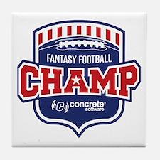 Concrete Football Champion Tile Coaster