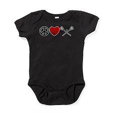 Peace Love Play Lacrosse Baby Bodysuit