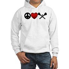 Peace Love Play Lacrosse Hoodie