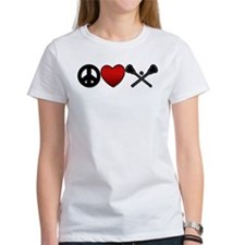 Peace Love Play Lacrosse Tee