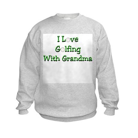 Golfing With Grandma Kids Sweatshirt
