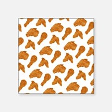 "Fried Chicken Square Sticker 3"" x 3"""