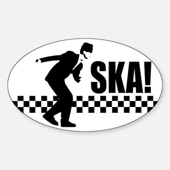 Ska On! Sticker (Oval)
