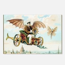 Vintage Art Flying Machin Postcards (Package of 8)