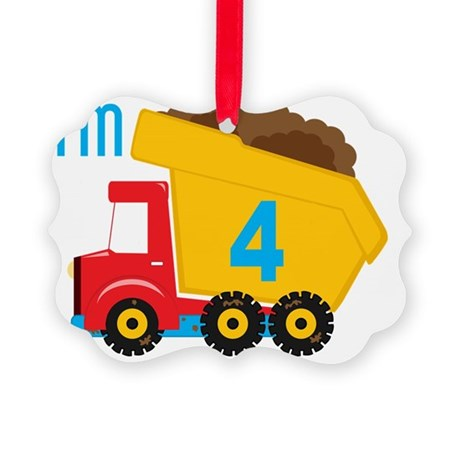 Dump Truck Im 4 Picture Ornament