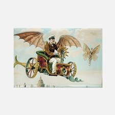 Vintage Art Flying Machine Dirigi Rectangle Magnet