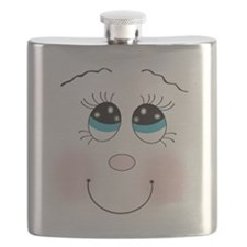 cute silly smiley girley face Flask