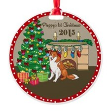 2015 Collies 1St Christmas Ornament