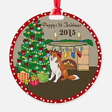 2015 Collies 1St Christmas Ornament