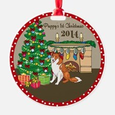 2014 Collies 1St Christmas Ornament